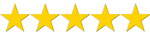 cinq étoiles sur amazon