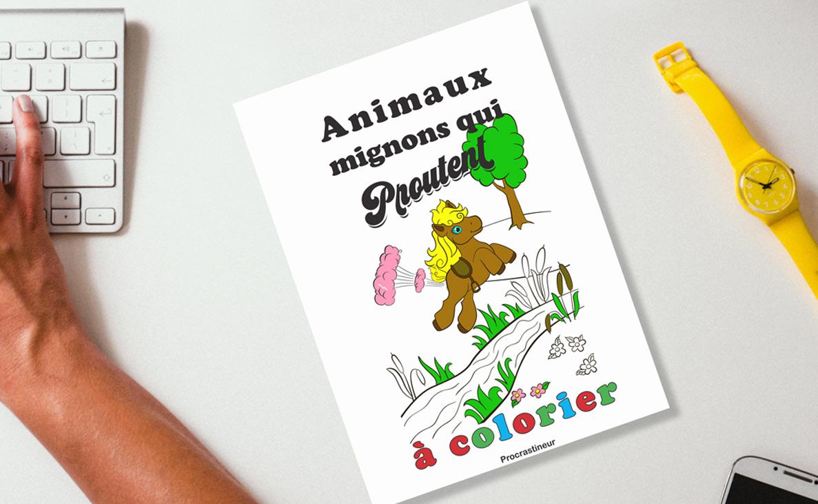 Animaux mignons qui proutent à colorier