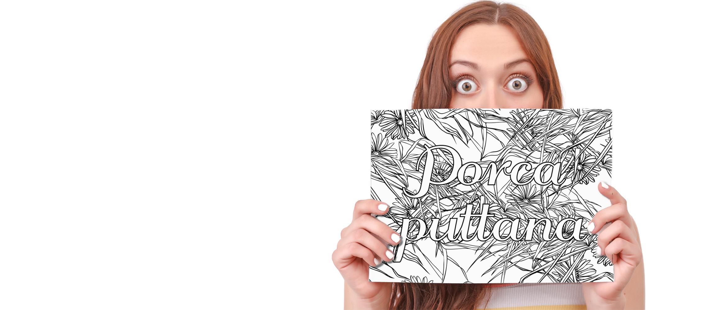 Il mio libro di parolacce da colorare for Lepre immagini da stampare