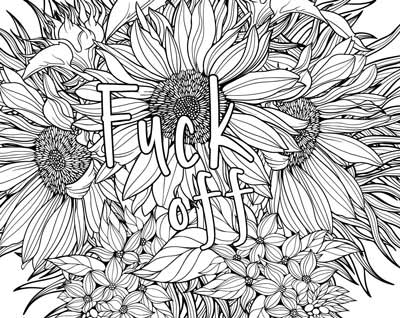 Coloring Book of Swears words adult funny fuck off