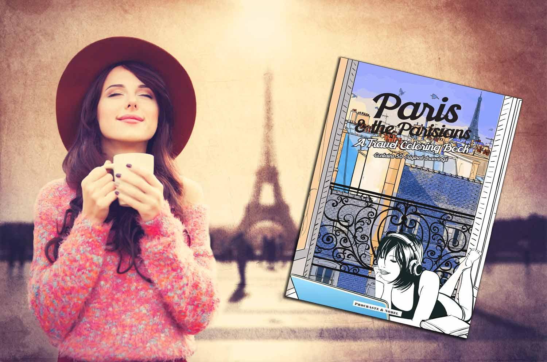 Paris coloring book art home page