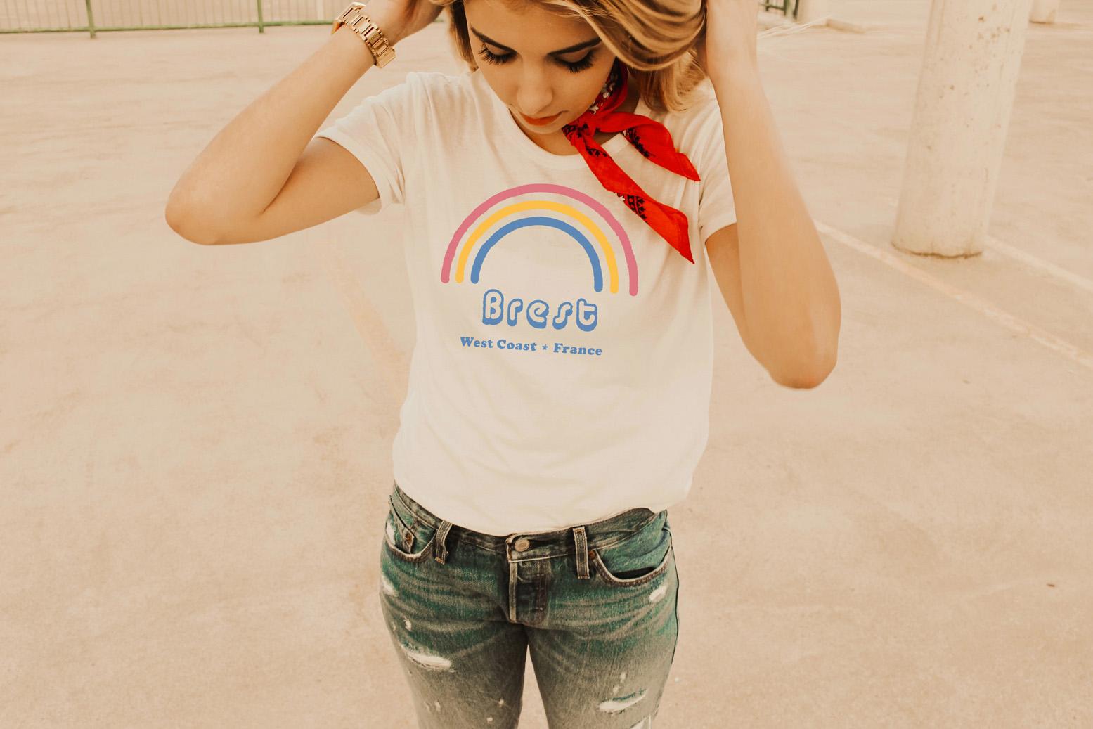 fabulosamente Brest fresca Camiseta mujer de de JlcF1TK